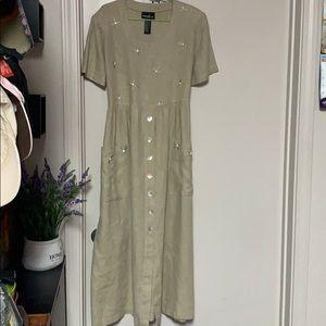 Positive Attitude women's Linen dress maxi